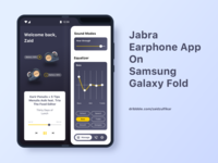 Jabra  Earphone App On  Samsung  Galaxy Fold