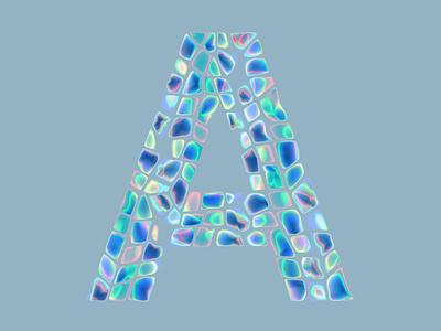 A-letter 36 days of type design chrome 36daysoftype08 36daysoftype iridescent motion typogaphy art digitalart vector illustration
