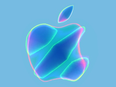 Apple logo remixed art gradient apple branding graphic design logo design neon vector digitalart illustration