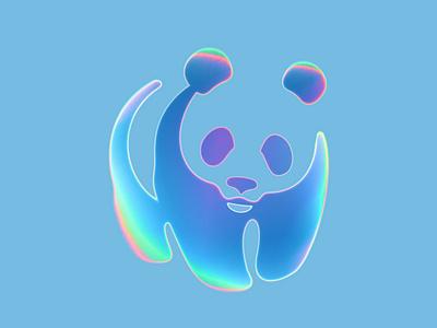 Remixing WWF logo graphic design branding design logo neon gradient art digitalart illustration