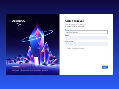 Admin Account illustration nft cryptocurrency crypto cyberpunk web design form wizard futuristic neon design ui digitalart illustration