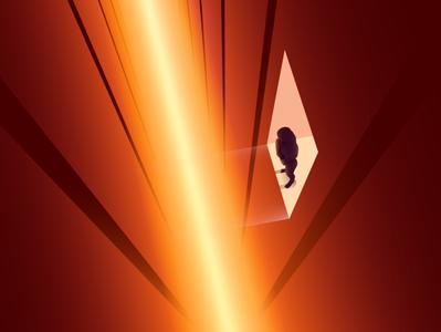 Lost Again illustrator wandering lights futuristic neon gradient art digitalart vector illustration
