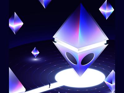 Malacosta lights vectorart neon surreal wandering futuristic gradient art digitalart vector illustration