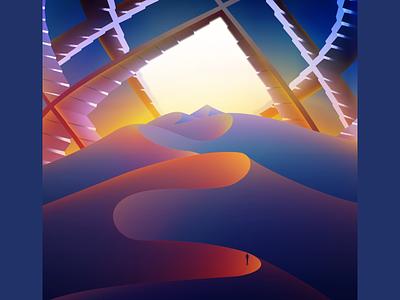 Crossings glow vectorart wandering futuristic neon gradient art digitalart vector illustration