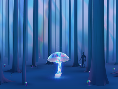 Toxic Jungle lights jungle wandering futuristic glow vector neon gradient art digitalart illustration