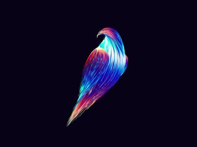 Hawk hummingbird hawk branding bird tutorial eagle design vectorart gradient art vector digitalart illustration