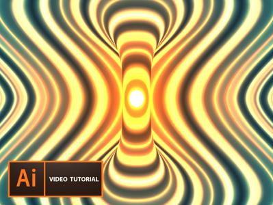 White hole lights tutorial futuristic wallpaper vectorart neon gradient art vector digitalart illustration