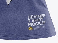 Heather Women's Fitted Tee Tshirt Mockup