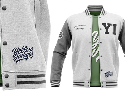 Heather Varsity Jacket Mockup heather varsity mockup jacket apparel 3d bomber jacket letterman jacket