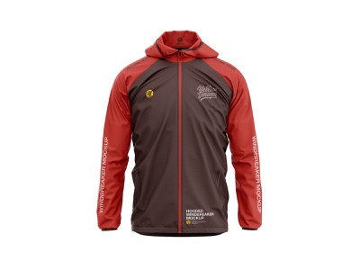 Hooded Windbreaker Jacket mock-up apparel mockup 3d apparel mockup windbreaker jacket windbreaker jacket hooded windbreaker jacket