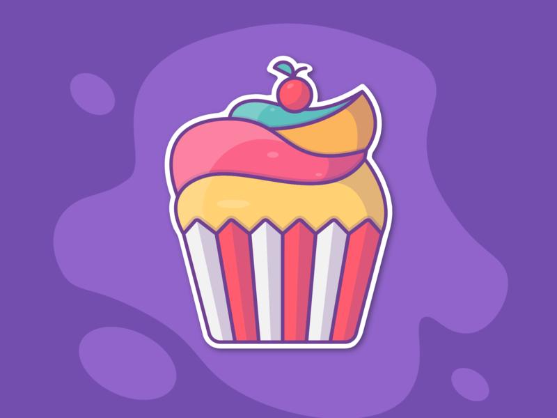 Cake cakes sweet pie cream cake food illustrator illustration art logo design
