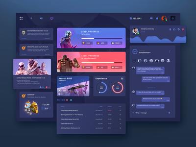 GameCenter user interface