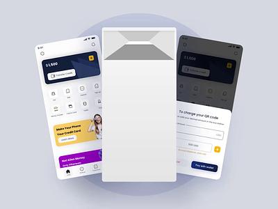Invoice - Digital Wallet uxui mobile app animation ui ux uiux mobile application invoice credit card wallet fintech money topup internet ui design app motion graphics minimal user interface