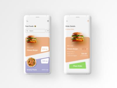 Food app UI practice