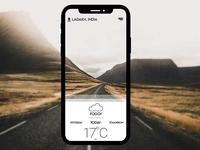 Weather App UI Design