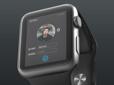 Wearable Edit Profile Screen UI Design
