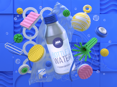 SOM H20 redshift3d motion graphics 3d mograph c4d eyedesyn cinema 4d