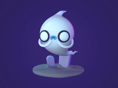 Ghosty tombstone spooky ghost halloween 3d character animation mograph c4d eyedesyn cinema 4d