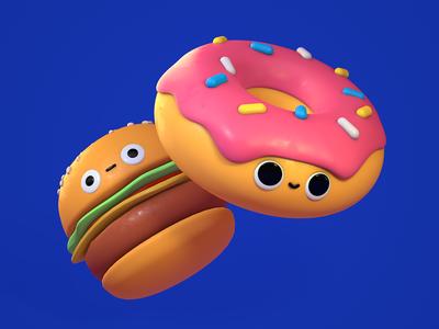 Burger Donut