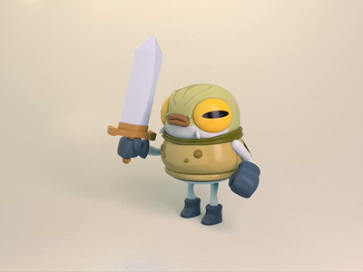 Frog Knight bendy limbs animal toad frog character design motion graphics 3d mograph cinema 4d c4d