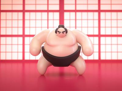 Sumo Slam japanese japan sumo augmented reality ar aero adobe aero motion graphics mograph animation eyedesyn c4d cinema 4d