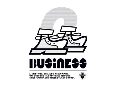 BIZ-NUZZ vector logo design illustration graphic cartoon