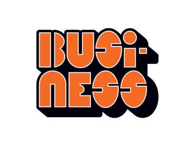 BUSINESS vector logo design illustration graphic cartoon