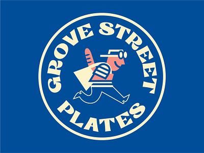 GROVE STREET PLATES SUBMARK characterdesign branding typography art vector logo design illustration graphic cartoon