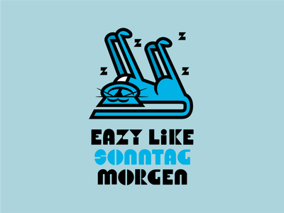 EAZY LIKE SONNTAG MORGEN CONCEPT characterdesign branding art vector logo design illustration graphic alcohol branding can packaging beer