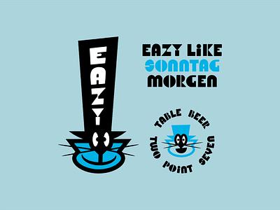 EAZY LIKE SONNTAG MORGEN alcohol branding characterdesign branding vector logo design cartoon illustration graphic