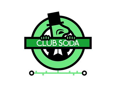 CLUB SODA 'UNDERGROUND' COCKTAIL vector typography beer alcohol branding characterdesign branding design cartoon illustration graphic
