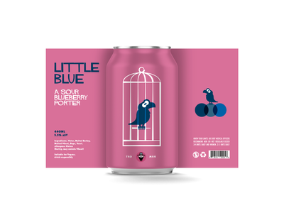 LITTLE BLUE LABEL logo vector branding characterdesign design cartoon illustration graphic can beer mockup mockup mock