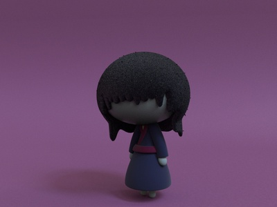 Noppera-bo yokai practice cinema4d 3d modeling cute animation motion design cartoon illustration