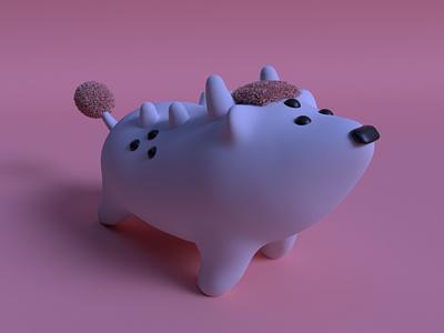Hakutaku yokai practice cinema4d 3d modeling cute animation motion design cartoon illustration