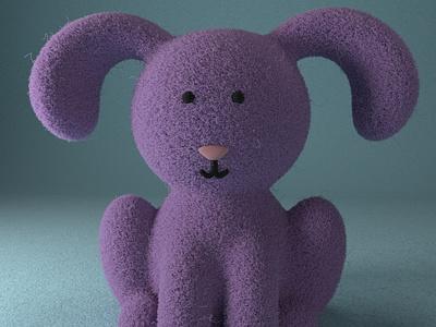 Lauren, the cute rabbit gal practice cinema4d 3d modeling cute animation motion design cartoon illustration
