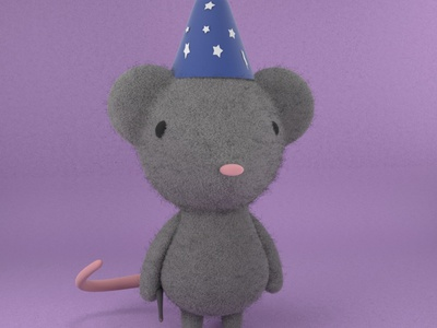 Olivia, the cute mouse gal mouse practice cinema4d 3d modeling cute animation motion design cartoon illustration