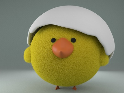 Kelly, the cute chick gal fur arnoldrender arnold renderer arnold zbrush pixlogic zbrush daily practice daily practice cinema4d 3d modeling cute animation motion design cartoon illustration