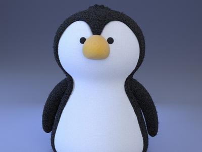 Pippi, the cute penguin gal penguin zbrush zbrush pixlogic practice cinema4d 3d modeling cute animation motion design cartoon illustration
