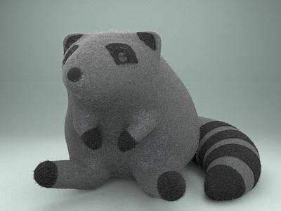 Kaley, the cute raccoon gal zbrush zbrush pixlogic raccoon practice cinema4d 3d modeling cute animation motion design cartoon illustration
