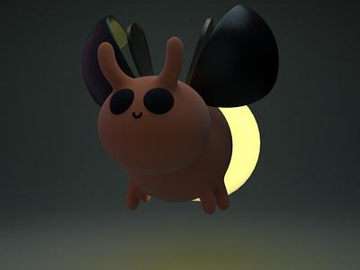Jan, the cute bug gal bug practice cinema4d 3d modeling cute animation motion design cartoon illustration
