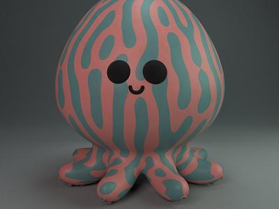 Kristin, the cute void octopus gal yokai practice cinema4d 3d modeling cute animation motion design cartoon illustration