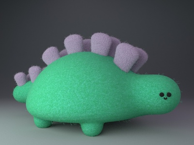 Pam, the cute dinosaur gal practice cinema4d 3d modeling cute animation motion design cartoon illustration