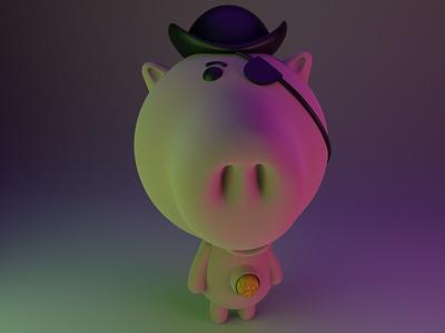 Evil Dr. Porkchop 3d cinema4d 3d modeling cute animation motion design cartoon illustration