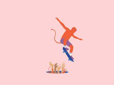 Lost Souls shorts skate skater skateboard hands flames evil pink satan worth souls lost