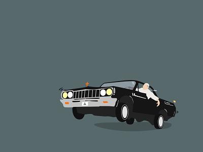 Francis is Lowridin' religion black illustration lowrider car minimalism colombia papa pope francis