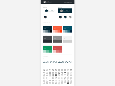 Style Guide ui kit style guide web design