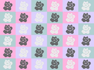 Kitty Pattern! cat pastels pattern icon