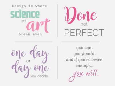 Some inspiring quotes illustrator typogaphy quotes