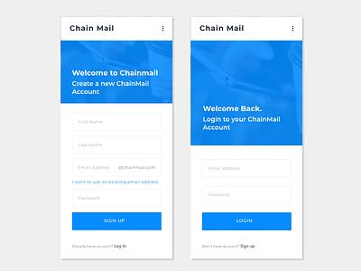 Log In | Sign Up design signup login mobile ui