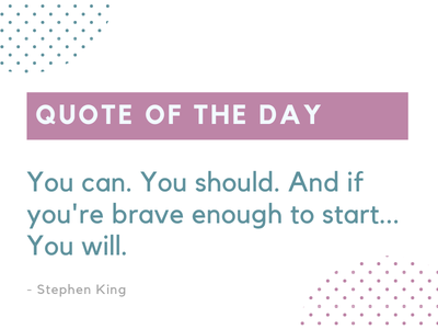 Quote of the day design inspiring quote